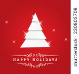 happy holidays vector greeting... | Shutterstock .eps vector #230803708