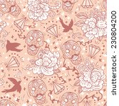 vector  seamless pattern with... | Shutterstock .eps vector #230804200