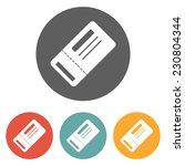ticket icon | Shutterstock .eps vector #230804344