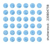 vector thin icons set for web...