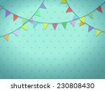 holiday garland of colorful... | Shutterstock . vector #230808430
