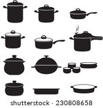 pans and pots collection | Shutterstock .eps vector #230808658
