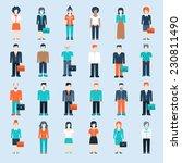 flat style modern people in... | Shutterstock .eps vector #230811490