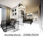 abstract sketch design of... | Shutterstock . vector #230815024