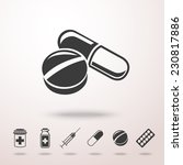 pills icon in the air with... | Shutterstock .eps vector #230817886