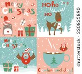 set of christmas cards and... | Shutterstock .eps vector #230825890