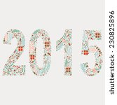 "vector illustration ""2015"".... 