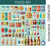 food set. vector   Shutterstock .eps vector #230826100