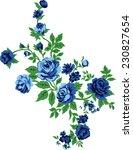 Blue Bouquet.vector Flowers.