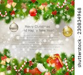 merry christmas greeting card... | Shutterstock .eps vector #230834968