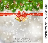 xmas greeting card with fir... | Shutterstock .eps vector #230834980