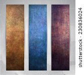 Set Of Three Vertical Banners ...