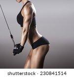 beautiful muscular fit woman... | Shutterstock . vector #230841514