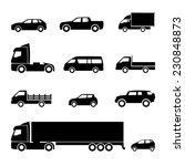 transportation icons. cars ... | Shutterstock .eps vector #230848873