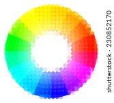 creative color wheel. vector... | Shutterstock .eps vector #230852170