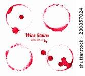 vector set of 4 watercolor red... | Shutterstock .eps vector #230857024