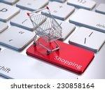 online shopping concept | Shutterstock . vector #230858164