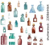 set of watercolor medical icons ...   Shutterstock .eps vector #230864464