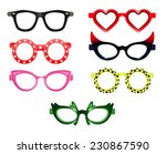 set of party sunglasses | Shutterstock .eps vector #230867590