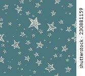hand drawn stars seamless... | Shutterstock .eps vector #230881159