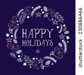 vector christmas with wreath... | Shutterstock .eps vector #230886466
