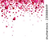 falling confetti of red hearts | Shutterstock .eps vector #230888449