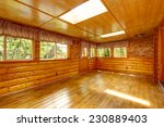 Bright Empty Log Cabin House...