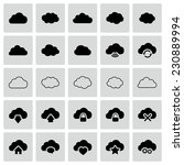 set of isolated modern cloud... | Shutterstock . vector #230889994