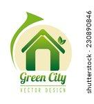 ecology design over white... | Shutterstock .eps vector #230890846