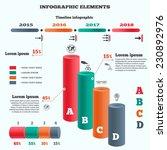 infographics elements. 3d... | Shutterstock .eps vector #230892976
