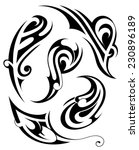 tribal tattoo set | Shutterstock .eps vector #230896189