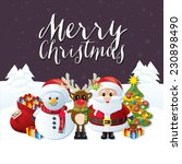 merry christmas traditional... | Shutterstock .eps vector #230898490