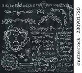 doodles border frame brushes... | Shutterstock .eps vector #230901730