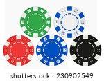 colorfull casino poker chips... | Shutterstock . vector #230902549