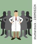 doctor in front of his medical... | Shutterstock . vector #230903224