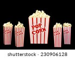 Big Bucket Of Popcorn And Four...