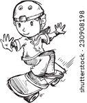 skateboarder sketch vector... | Shutterstock .eps vector #230908198