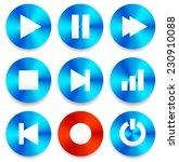 multimedia buttons  backgrounds ...