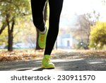 young woman jogging at park | Shutterstock . vector #230911570