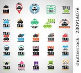 taxi icons set   isolated on...