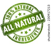 natural ingredients stamp | Shutterstock .eps vector #230917213