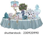 Stock vector wonderland tea party decorated table 230920990