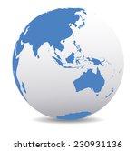 asia and australia  global world | Shutterstock .eps vector #230931136