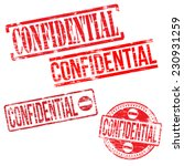 confidential stamps. different... | Shutterstock .eps vector #230931259