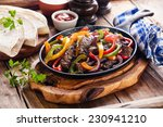 beef fajitas with colorful bell ... | Shutterstock . vector #230941210