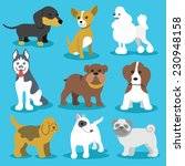 vector dogs flat icons set...   Shutterstock .eps vector #230948158