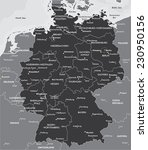 black and white map of germany | Shutterstock .eps vector #230950156