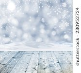 winter background with wooden... | Shutterstock . vector #230952724
