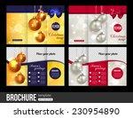 christmas trifold brochure... | Shutterstock .eps vector #230954890