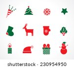 christmas icons for decorations | Shutterstock .eps vector #230954950